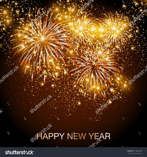 new year vector happy new year fireworks background stock vector