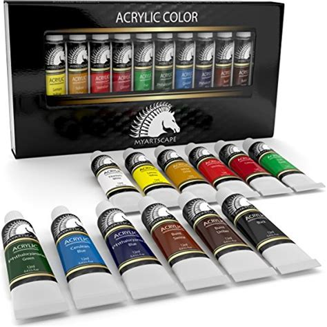 acrylic paint set artist quality paints for painting canvas import it all