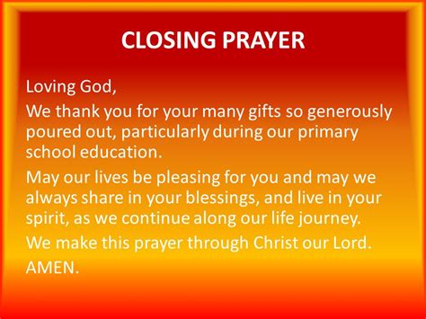 cloaing prayer for christmas progeamme pentecost moving ahead with spirit ppt
