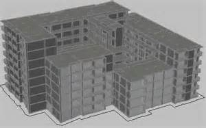 3d building drawing multifamily building 3d in autocad drawing bibliocad