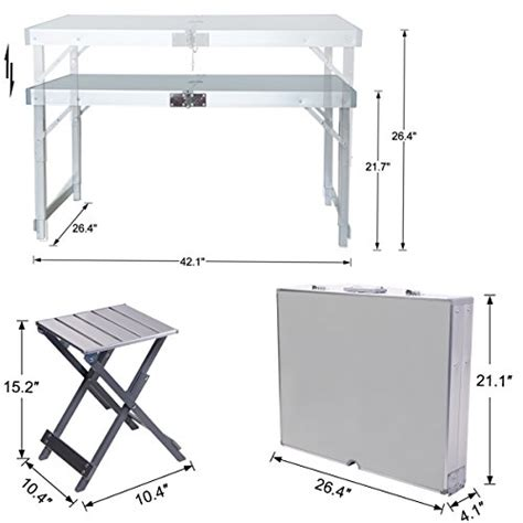 Folding Picnic Table And Stools by Folding Picnic Table With Umbrella And 4 Folding