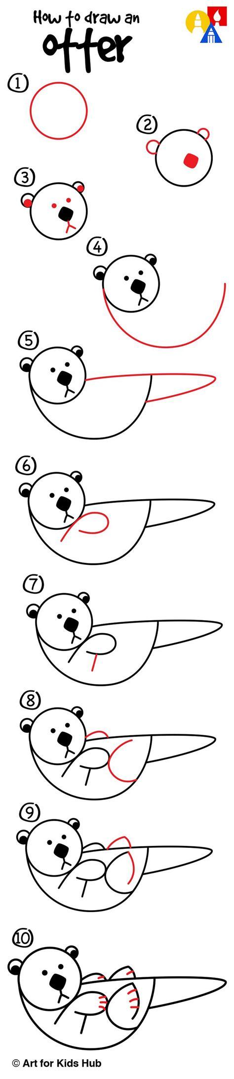 How To Draw An Otter how to draw an otter with shapes for hub