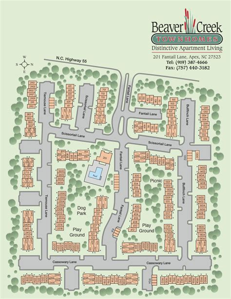 Regency Park Floor Plan by Beaver Creek Apartments And Townhomes Custom Page