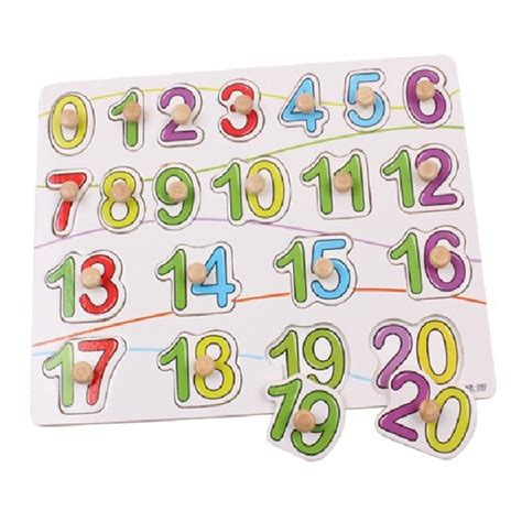 Puzzle Knob Number Type A knob wooden number figure cognitive puzzle education alex nld