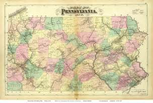 where is pa on a map maps of pennsylvania