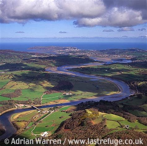 last refuge aerial image search: river conwy from tal y