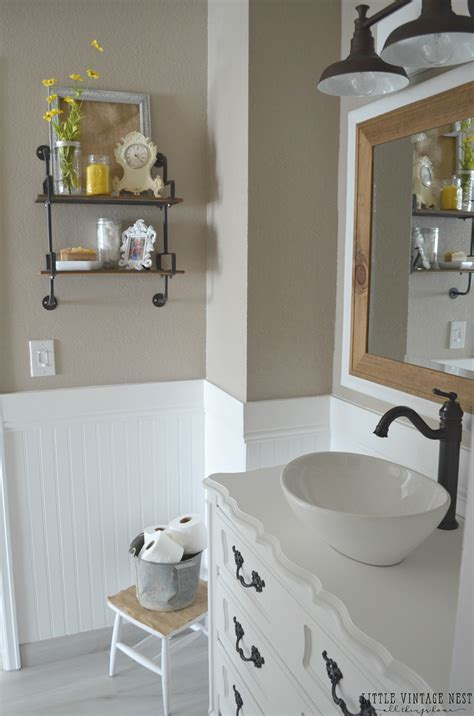 farm bathroom farmhouse master bathroom reveal little vintage nest
