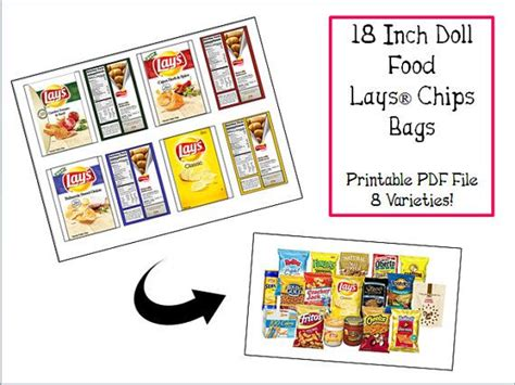 Baby Weight Sweepstake Template - make your own doll sized lays chip bags pdf printable 3 99 on etsy by the
