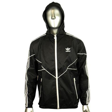 Jaket Adidad 03 Black mens adidas originals adicolor black windbreaker jacket ac cld wb trefoil coat ebay
