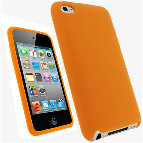 orange silicone skin for apple ipod touch 4th 4g