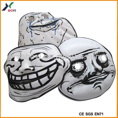 Troll Meme Mask - realistic troll mask 3d embossed face mask meme party mask