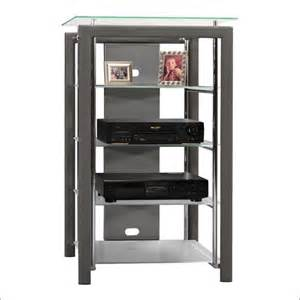 Audio Racks And Towers Bush Furniture Platinum Mist Audio Rack Audio Towers