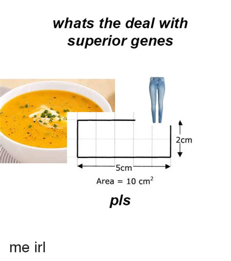 Whats The Deal by Whats The Deal With Superior Genes Cm 4 5cm Area 10 Cm2