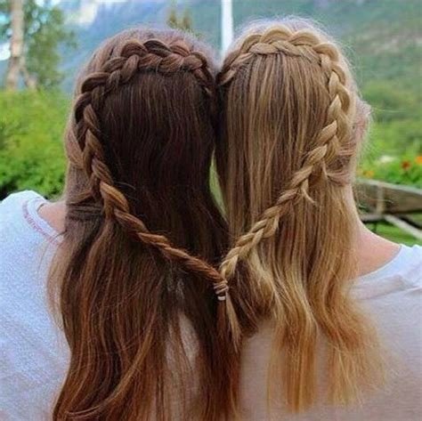 best friends braid their hair together! the haircut web