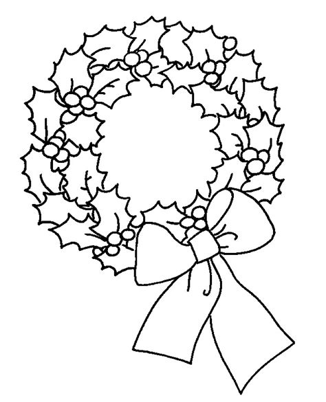wreath bow coloring page wreath clipart cliparts co