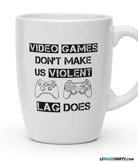 Lag Make Us Violent Coffee Mug   LeRage Shirts