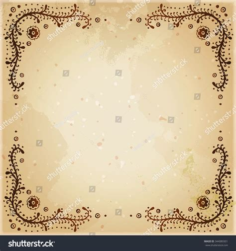henna tattoo background indian ethnic henna framed background stock vector