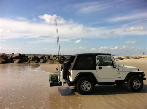 jeep surf jeep wrangler fishing rod rack google search fishing