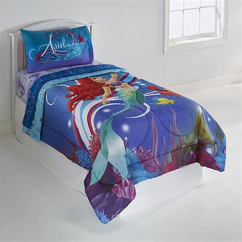 disney girl s little mermaid twin comforter home bed