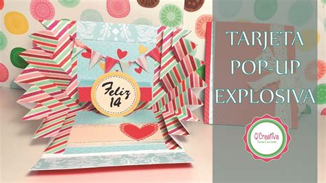 tutorial tarjeta pop up scrapbook tutorial tarjeta explosiva popup san valentin youtube