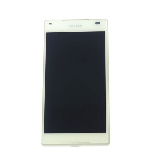 Lcd Touchscreen Sony Xperia Z5 Compact Hitam lcd touch screen front panel white original for sony xperia z5 compact e5803 1297 3732
