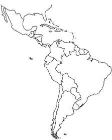 outline map of south america wku in america