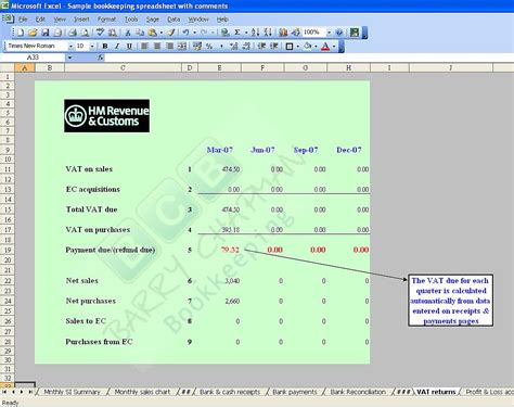 accounting bookkeeping spreadsheets templates demo