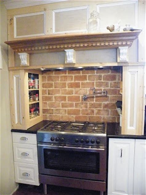 Faux Brick Kitchen Backsplash | faux brick backsplash making a house a home pinterest