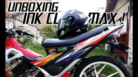 Flat Visor Helm Bogo 8 unboxing ink cl max modifikasi flat visor dan spoiler