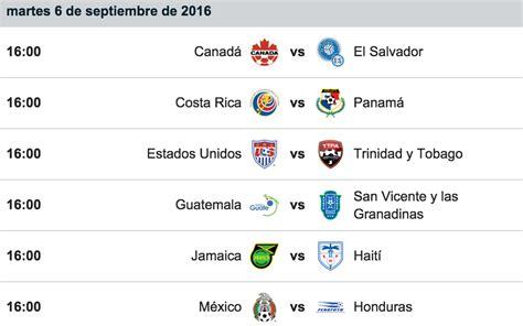 Calendario Eliminatorias Rusia 2018 Mexico Eliminatorias De La Concacaf Rusia 2018 Todo Lo Que Hay