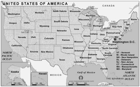 map usa states black and white black and white map united states of america pictures to