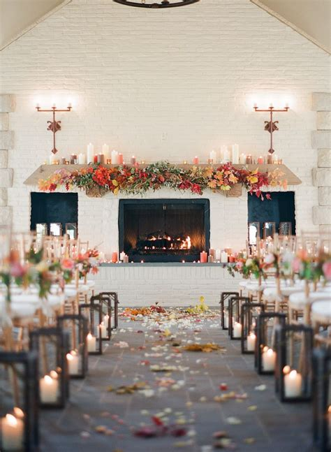 winter wedding aisle decorations 25 best ideas about indoor fall wedding on
