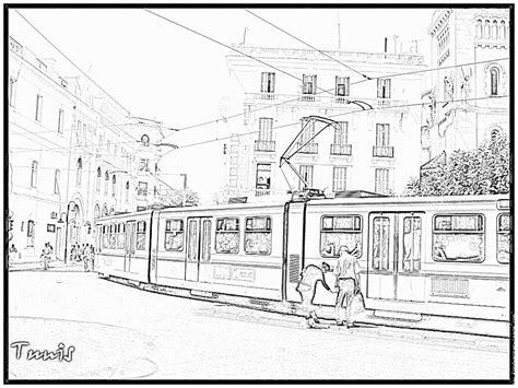 Dessin 195 Colorier De Tram