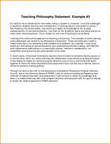 Teaching Philosophy Template by Exle Of Teaching Philosophy Sle Philosophy Of