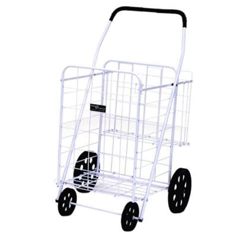 easy wheels jumbo plus shopping cart in white 012wh the