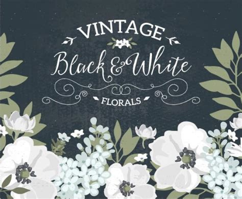 Wedding Flowers Clip Black And White by Vintage Black And White Floral Wedding Invitation Clip