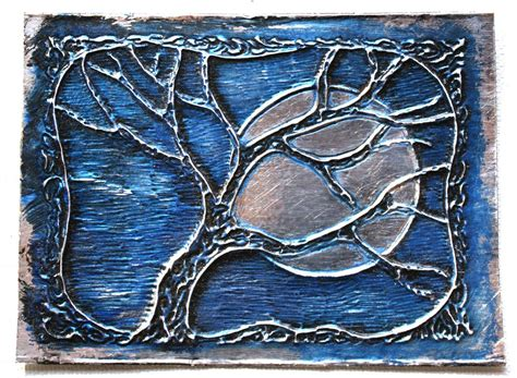 Painting Metal by Sebenta Embossed Metal Aceos