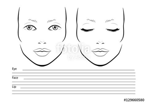 Quot Face Chart Makeup Artist Blank Template Vector Illustration Quot Stock Image And Royalty Free Makeup Chart Template
