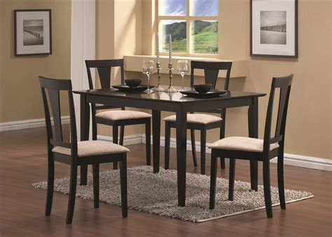 casual dining room furniture sets furniture outlet dining table set 5 pc set cappuccino rectangle coaster 150181
