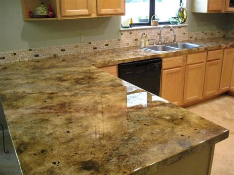 Artificial Kitchen Countertops by Icoat Concrete Overlay Faux Granite Look Picture By The