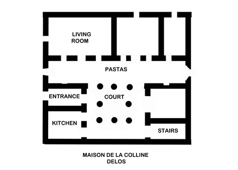 ancient greek house plan file ancient greek plan house of colline delos jpg wikimedia commons