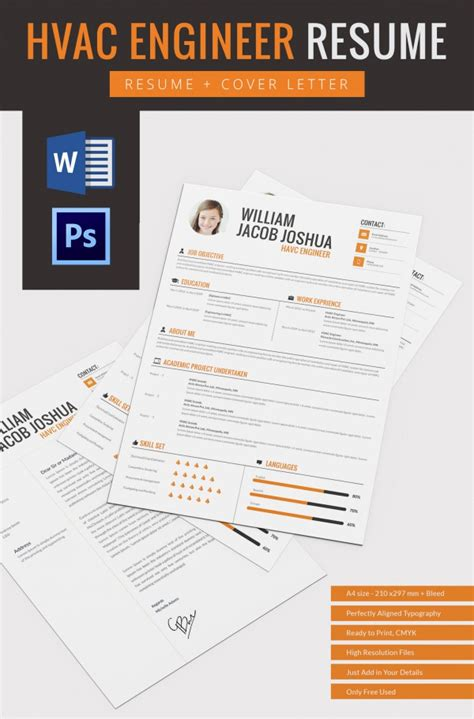 engineering cv template free hvac resume template 10 free word excel pdf format free premium templates