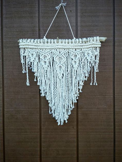 Macrame Wall Hangings - textured macrame wall hanging knotted fringe tapestry