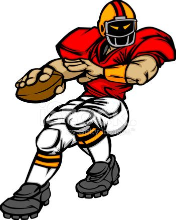 football player quarterback vector cartoon stock vector