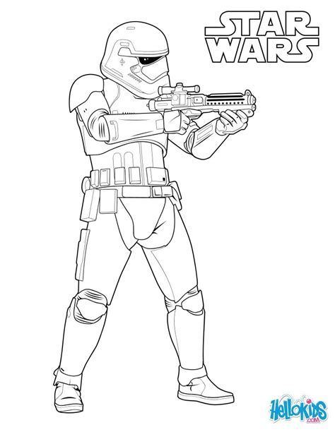 coloring pages of star wars 7 stormtrooper of the first order coloring pages hellokids com