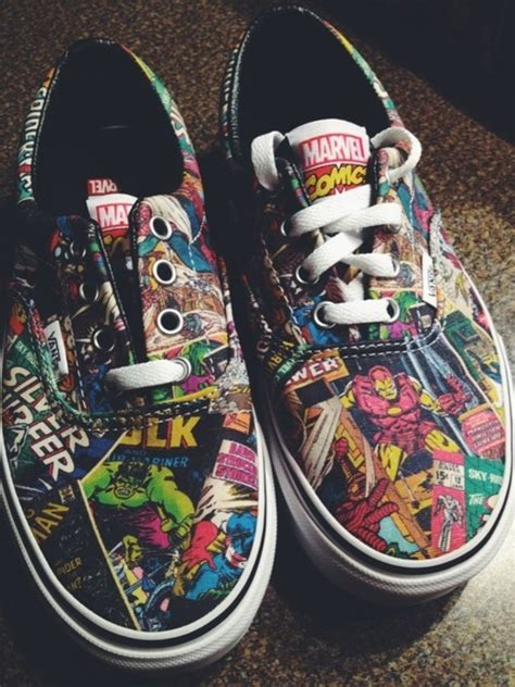 marvel shoes for vans era marvel comic skate shoe black journeys shoes