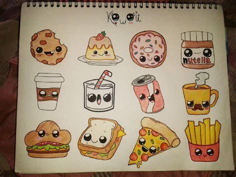 comida kawaii para colorear cristal gonz 224 lez comida kawaii 3 art dibujos