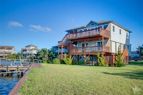 island vacation homes canalfront homes egret point in avon hatteras island