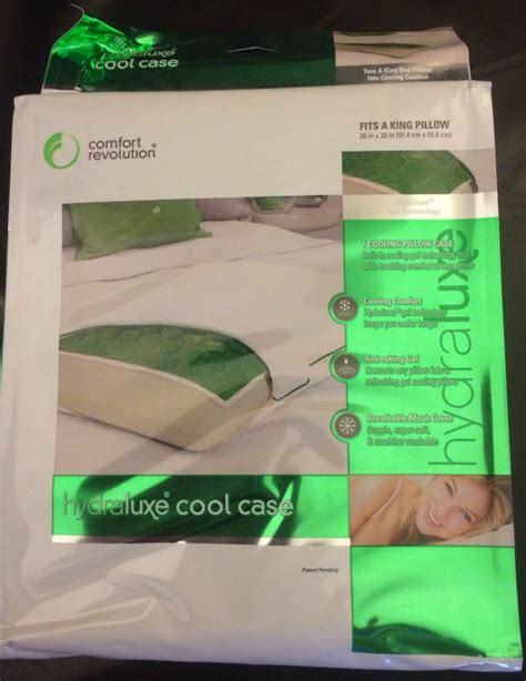 comfort revolution pillow case comfort revolution s hydraluxe cool pillow case review