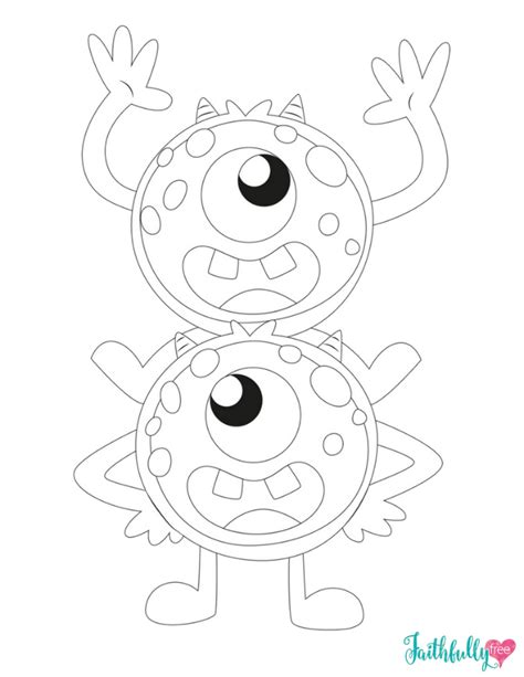 monster coloring pages free monster coloring pages free printables faithfully free